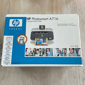 NEW! HP PHOTOSMART A716 DIGITAL PHOTO INKJET PRINTER WITH REMOTE USER GUIDE
