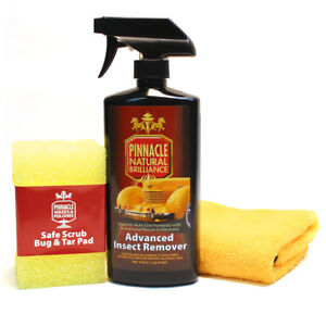 Pinnacle-Car-Care-Advanced-Insect-Remover-Sponge-amp-Towel-Kit-16-oz-PIN-730COMBO