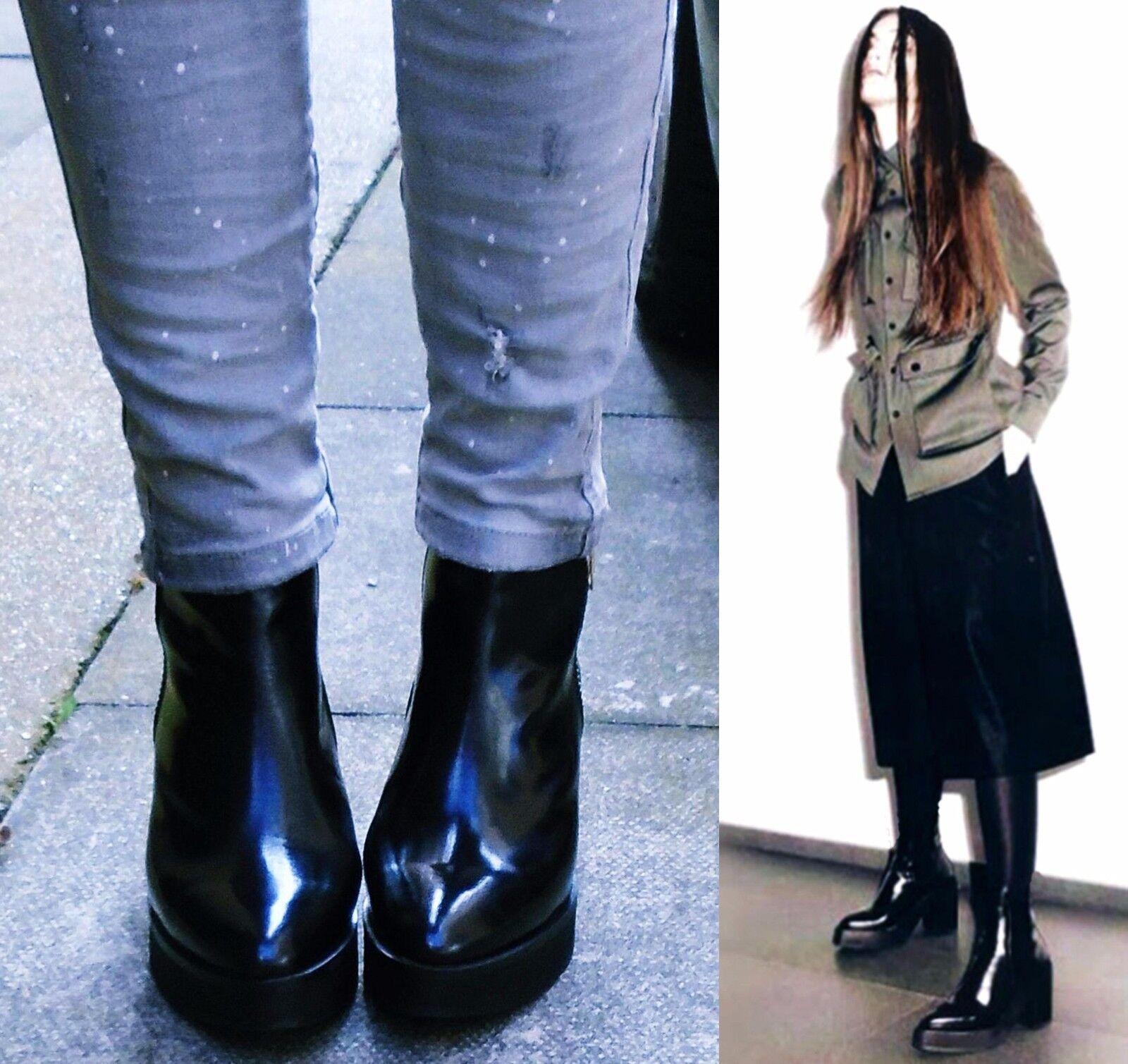 RIVER ISLAND Leder block heel chelsea ankle Stiefel Größe 5 UK 38 EU 7.5 US