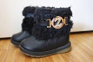 riesiges Inventar ziemlich billig Gratisversand Details zu Kinder Stiefel Schuhe Boots Mädchen Winterstiefel Leder Fell  schwarz gold 22