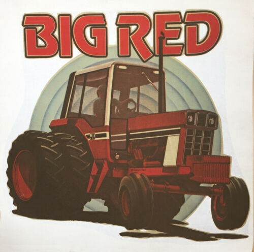 Vintage Big Red Tractor Iron On T-Shirt Transfer NOS