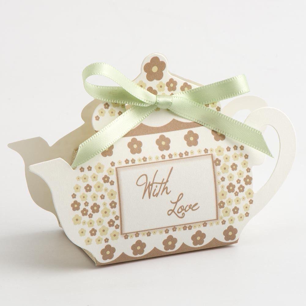 Luxus Taupe 'mit Liebe 'Teekanne Tee Party Hochzeitsgeschenk Party-Schachteln  | Sorgfältig ausgewählte Materialien  | Ruf zuerst  | Einfach zu spielen, freies Leben