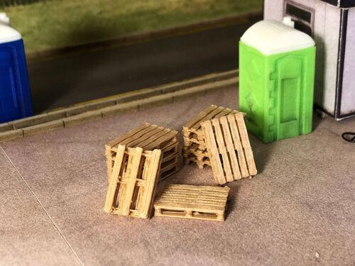 3D PRINTED REAL WOODEN EURO PALLETS OO GAUGE 1:76 SCALE MODEL RAILWAY AX063-OO