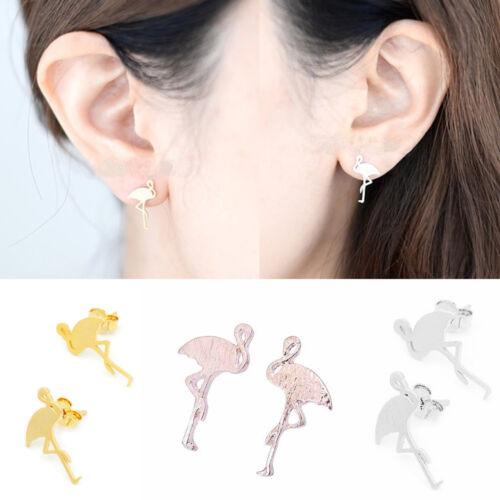 Charm Women Tropical Mini Flamingo Earring Jewelry Stud Earring Beach Party Gift