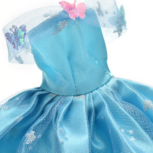 Dress for  Blue Dress with Butterfly Decoration Doll Beautiful Dress HIVG