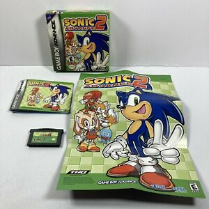 Sonic Advance 2 (Nintendo Game Boy Advance, 2003) CIB Authentic Tested Complete