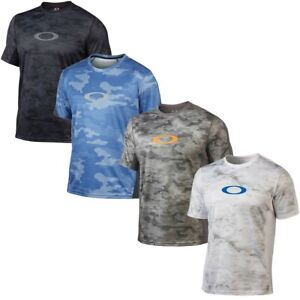 Oakley-Men-039-s-Agility-2-0-Camo-Activewear-Training-Top-Shirt