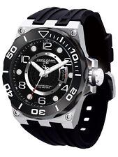 Jorg Gray JG9600-12 Mens Watch Black Dial Swiss Movement Black Rubber Strap