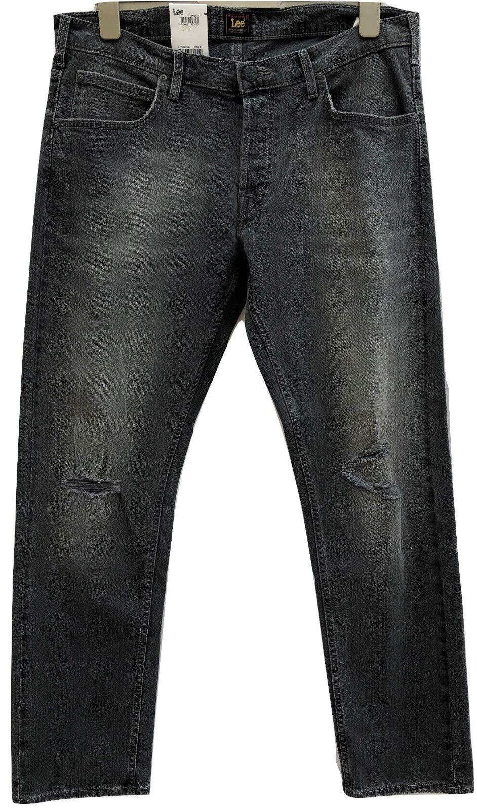 Para Hombres Jeans Lee Daren Regular  de 36 X 32 negra con aspecto envejecido New cierre de botones  Envíos y devoluciones gratis.