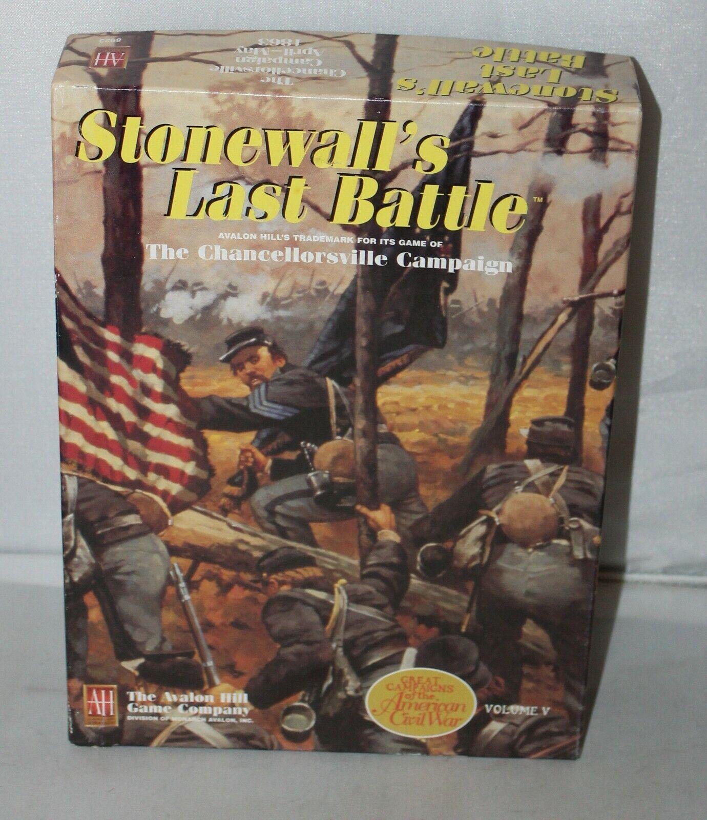 AH Avalon Hill GBACW Vol 5  Stonewall's Last Battle  Chancellorsville Campaign