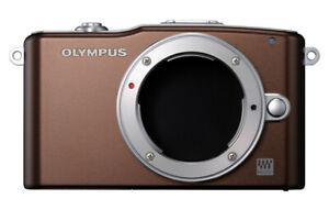 Olympus-PEN-Mini-E-PM1-Gehaeuse-braun-Einzelstueck-Lagerfund-FOTO-MUNDUS-X0616
