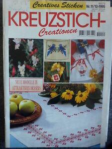 Creatives-Sticken-Heft-11-12-1995-Kreuzstich-Creationen-Neue-Modelle
