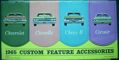 1965 CHEVELLE CUSTOM FEATURE ACCESSORIES  BROCHURE