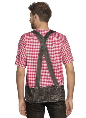 Mens Oktoberfest Costume 3D T Shirt Lederhosen Beer Festival Fancy Dress M L XL