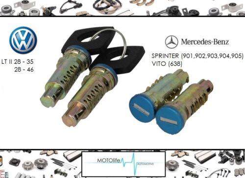 4 x Cylindre de verrouillage 2 x clé serrure VW LT 95-06 SPRINTER VITO W638