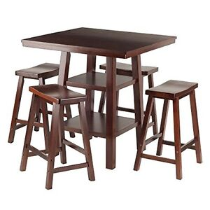 Orlando 5 piece counter height dining table set with backless stools