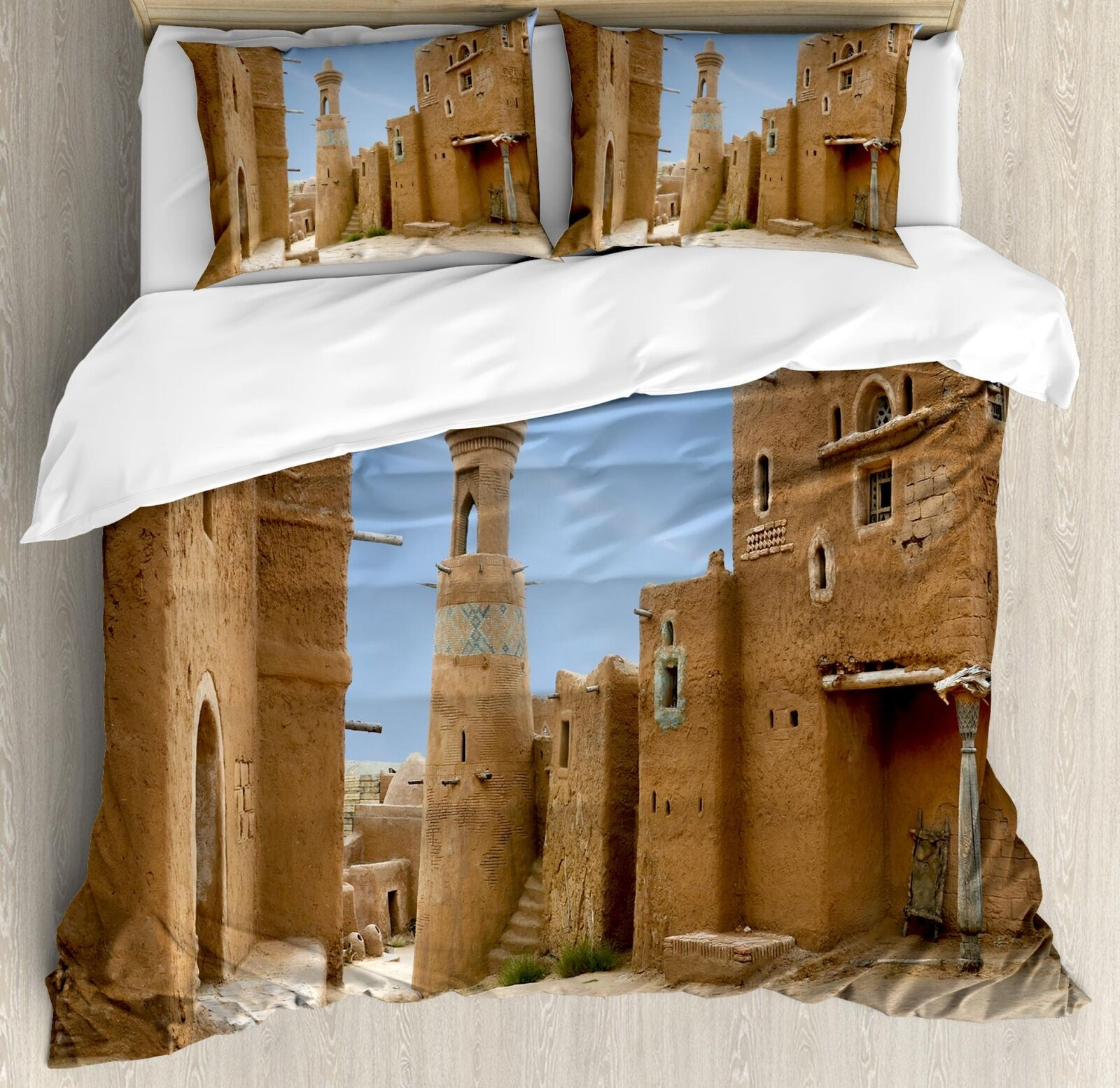 Desert Duvet Cover Set Twin Queen King Dimensiones with Pillow Shams Ambesonne