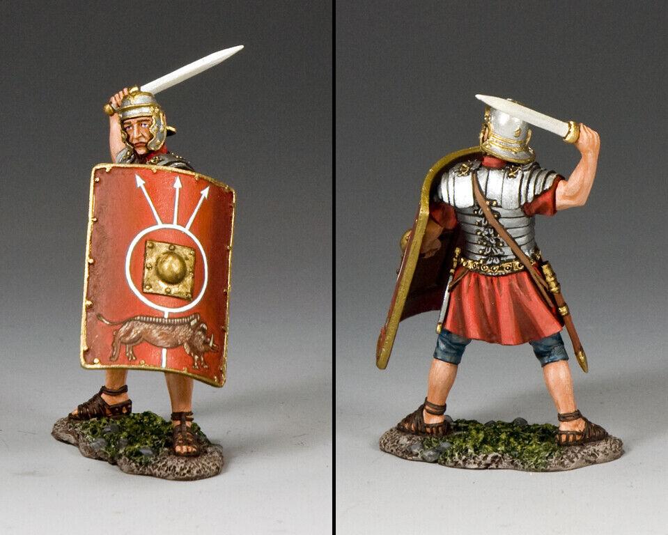 King & Country Romana Imperio ROM016 Romana Legionario Atacando con Espada MIB
