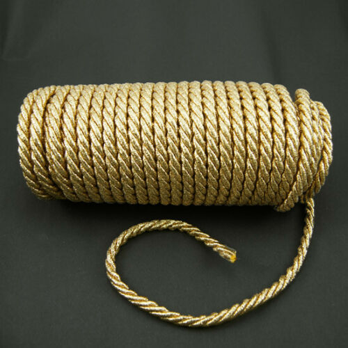 1 m cordel cordel banda 8 mm girado dekokordel Gold barroco