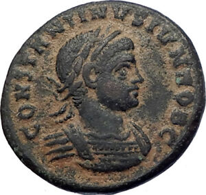 CONSTANTINE-II-Constantine-the-Great-son-321AD-Ancient-Roman-Coin-Wreath-i73663