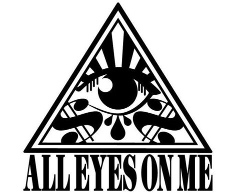 All eyes on me-Funny-Stickers-Car-Wall-Window-Decals-125x125mm