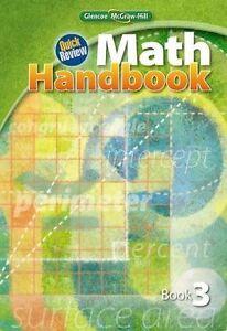 Details about 8th Grade Glencoe Quick Review Math Handbook Homeschool 8  Curriculum