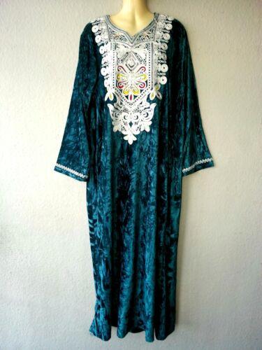 Galabia Abito Abito in gr arabo Jellabiya Abaya velluto invernale Maxi L Abito Dress aWTntcq