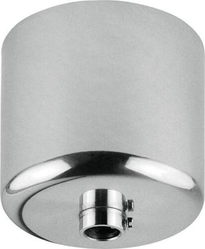 Baldachin Zylinder Metall verchromt poliert  Ø63 H55mm Lampe Leuchte Zubehör