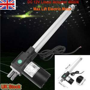 Metal DC 12V Linear Actuator 4000N Max Lift Electric Motor for Medical Auto Car 8889893210329
