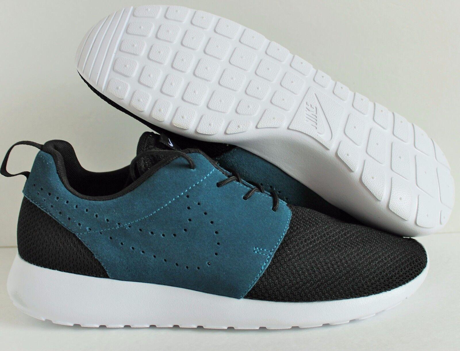 Nike Rosherun Premium Negro-Azul ID Negro-Azul Premium Gamuza [649439-991] d420e0