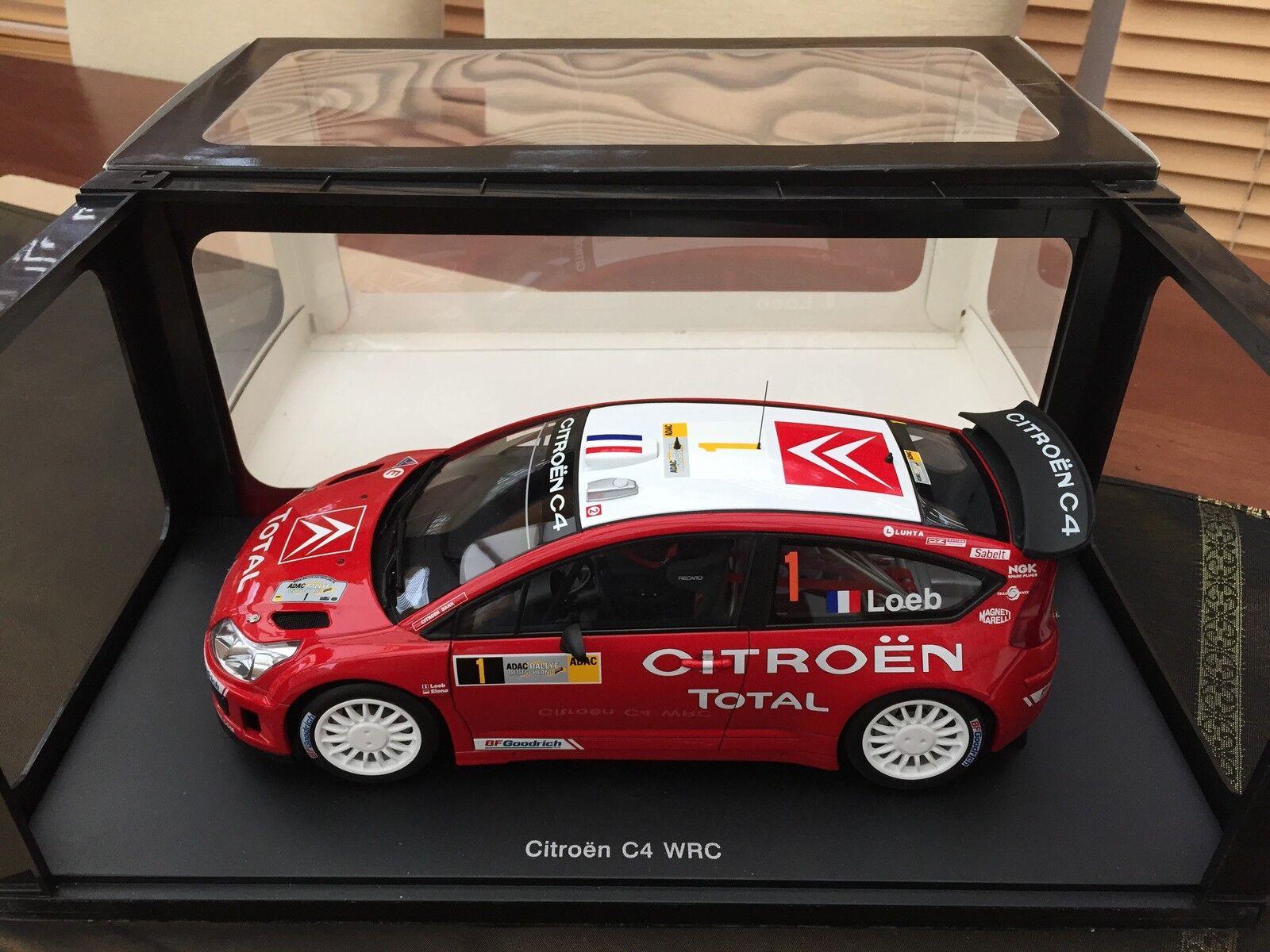 Autoart 1 18 CITROEN C4 WRC 2007 S. LOEB D, ELENA RALLY DEUTSCHLAND vincere MOLTO RARA