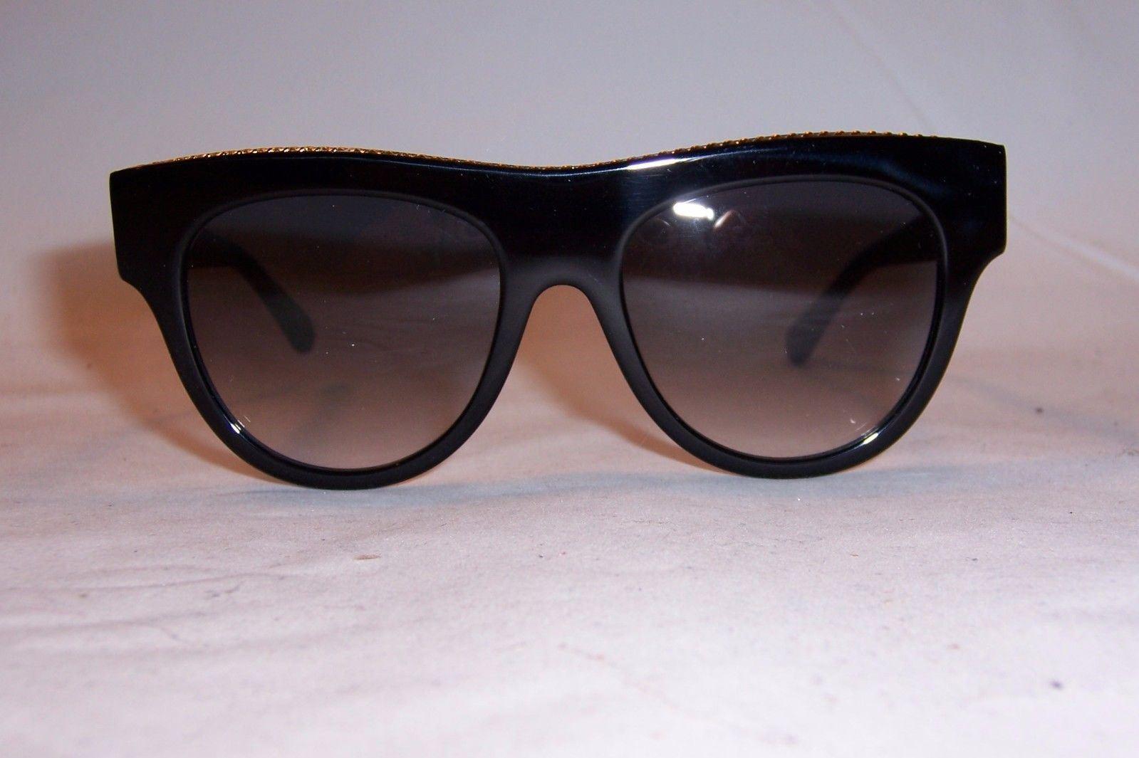 Stella McCartney Women s SC 0017s 0017 s 001 Black gold Cat Eye Sunglasses  51mm   eBay 2053d9665ae9