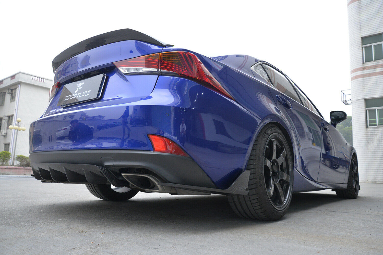 Rear Bumper Splitter Refit For LEXUS F Sport Base Sedan 2017-2018 Carbon Fiber
