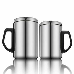 Tasse-Isolee-a-Double-Paroi-Mug-The-Cafe-Pichet-Flacon-Acier-Inox-350ml-500ml