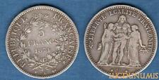 III République , 1871-1940 5 Francs Hercule 1874 K Bordeaux TB TTB