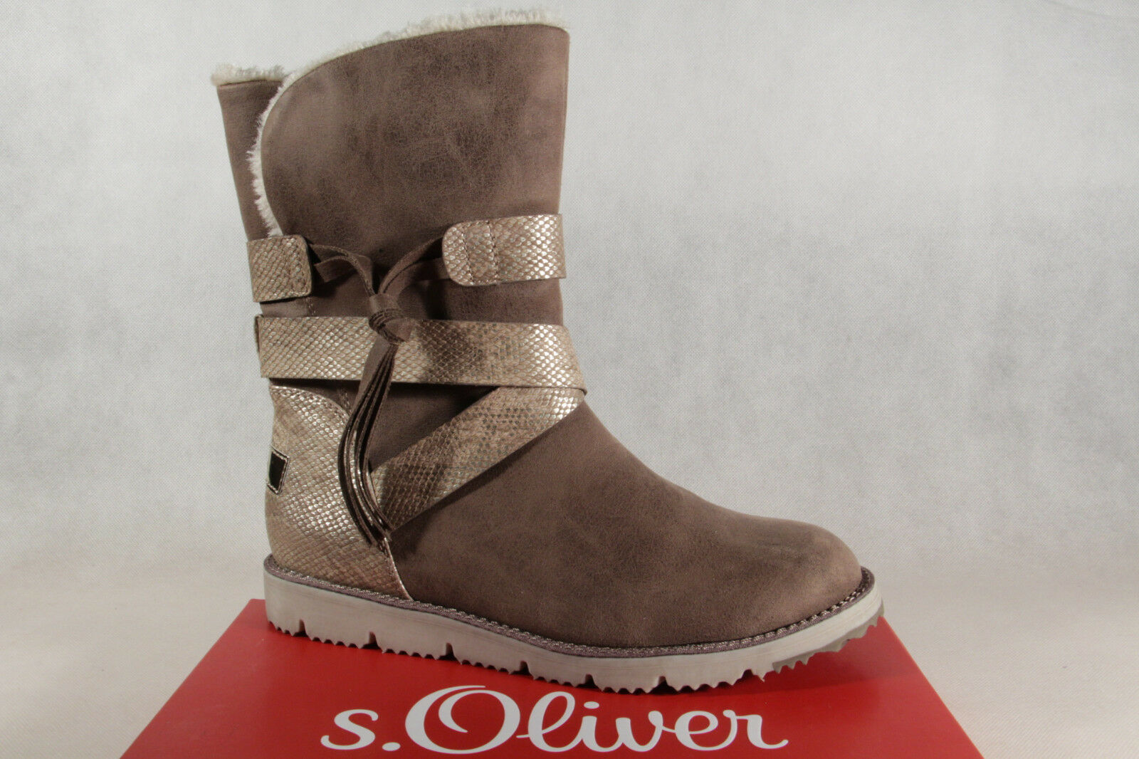 S.Oliver Women's Ankle Boots Winter Boots Cigar / Grey 26481 NEW