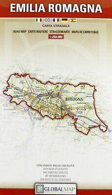 Cartina Austria Stradale.Emilia Romagna Cartina Stradale Regionale 1 250 000 Carta Mappa Global Map Ebay