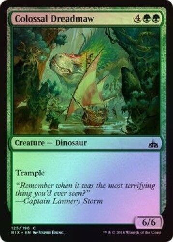 Colossal Dreadmaw 125//196 Common - Rivals of Ixalan Foil