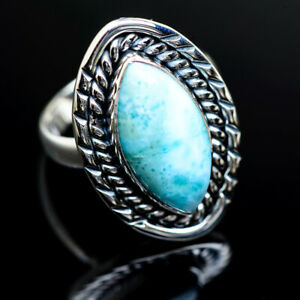 Larimar-925-Sterling-Silver-Ring-Size-8-Ana-Co-Jewelry-R982278F