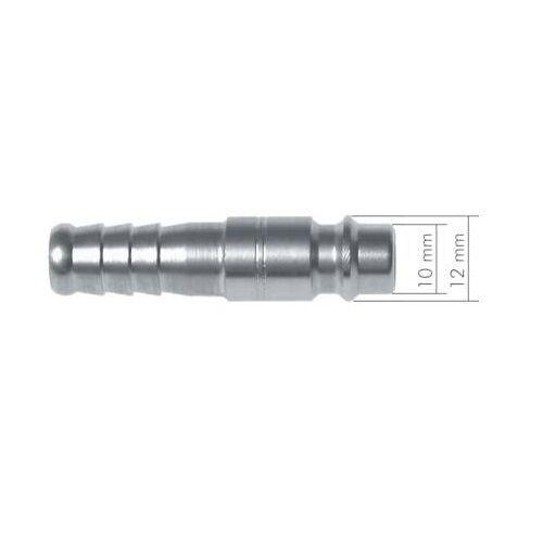 Kupplungsstecker NW 7,2 Kupplung Messing vern. Stecker Außengewinde