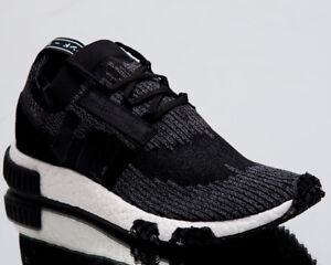 adidas-Originals-NMD-Racer-Primeknit-Men-New-Shoes-Black-Grey-White-AQ0949