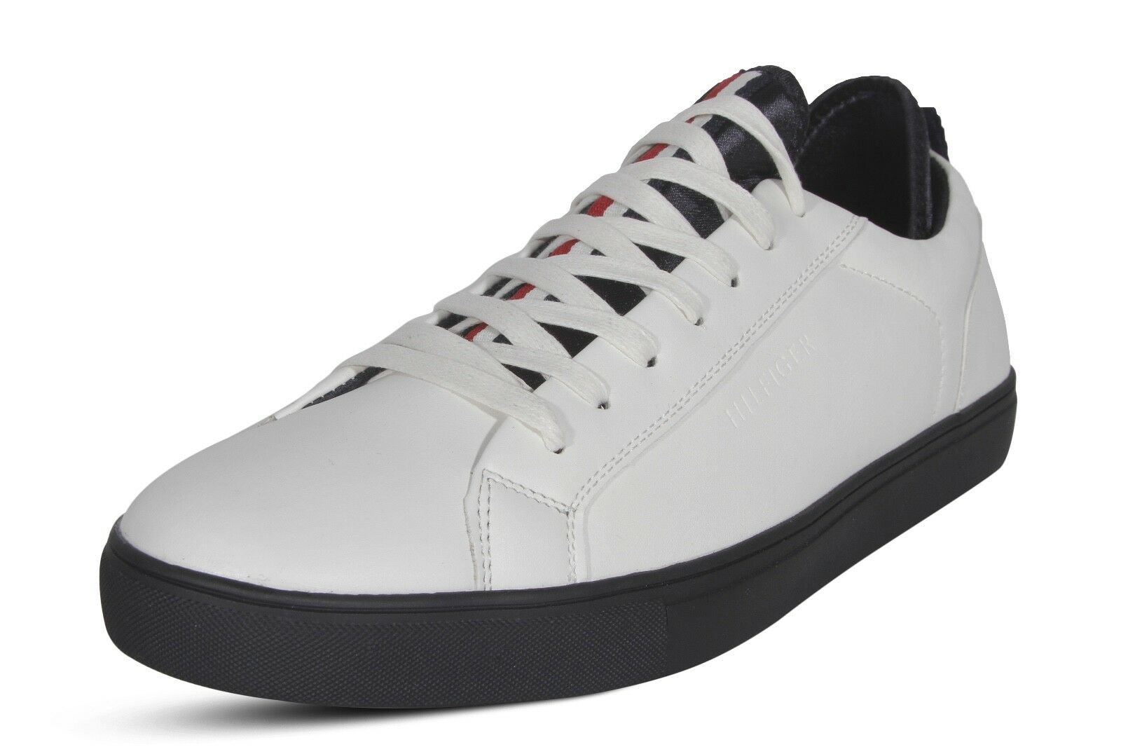 Tommy Hilfiger Mcneil hommes 's Fashion Sneakers Chaussures Leather Lace up blanc