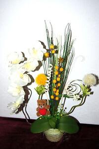 Orchideen Im Topf Kunstblume Tischdeko Kunstliche Blumen Dekoration