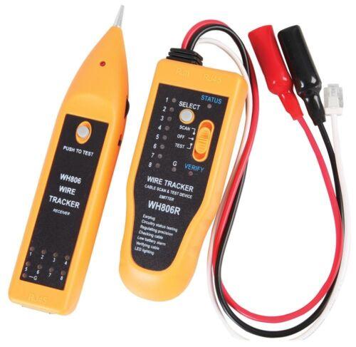 Probador De Cable De Red /& Tracker para cable de teléfono Cat5e Cat 6e Cable Coaxial