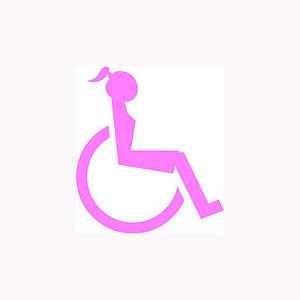 HANDICAPPED-WOMAN-Sticker-Disabled-Girl-Wheelchair-Vinyl-Sticker-Cute-Gift-Park