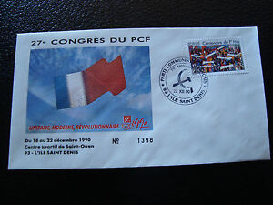 FRANCE-enveloppe-21-12-1990-27e-congres-du-PCF-cy7-french-d