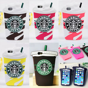 separation shoes f37c9 acf29 Details about Starbucks 3D Silicone Coffee Cup Phone Case Cover For iPhone  5S 6Plus+Samsung S8