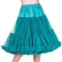 Banned 50s Dress Rockabilly 26 Petticoat Super Soft Underskirt Emerald Green