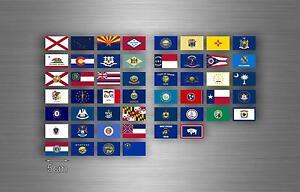 50x adesivi sticker stati degli uniti america usa americano bandiera r3