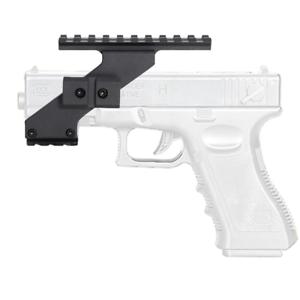 Tactical Weaver Picatinny Top Bottom Rail Handgun Scope Mount Glock Pistol Laser